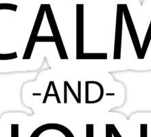 one piece keep calm and join my crew anime manga shirt Sticker