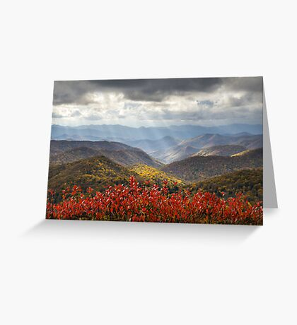 Blue Ridge Parkway Fall Foliage - The Light Greeting Card