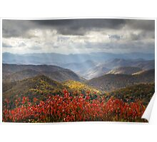 Blue Ridge Parkway Fall Foliage - The Light Poster