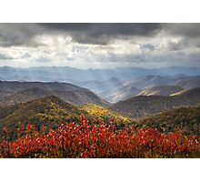 Blue Ridge Parkway Fall Foliage - The Light Photographic Print