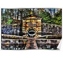 HDR image of water inlet at Milngavie res Poster