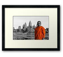 Angkor Wat Backing Framed Print