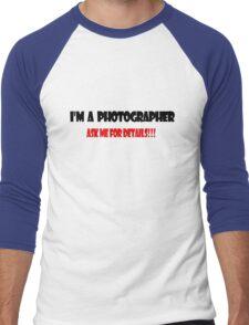 I'm a Photographer Men's Baseball ¾ T-Shirt