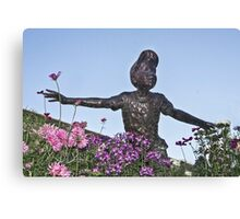 Fun Amongst  the Flowers Canvas Print