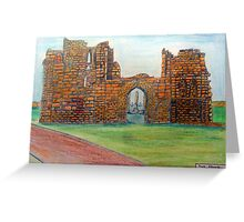 372 - TYNEMOUTH PRIORY CHURCH - DAVE EDWARDS - COLOURED PENCLS - 2012 Greeting Card
