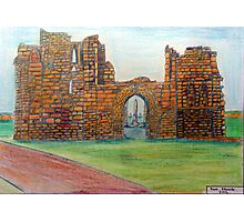 372 - TYNEMOUTH PRIORY CHURCH - DAVE EDWARDS - COLOURED PENCLS - 2012 Photographic Print