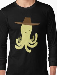 Yellow Octopus - Cowboy Hat Long Sleeve T-Shirt