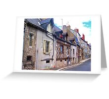 Old Houses in France Greeting Card