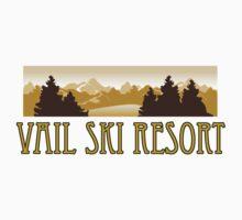 snow Vail ski resort truck stop novelty tee Kids Tee