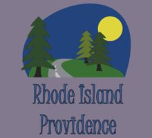 Providence Rhode Island truck stop vacation novelty tee by Tia Knight