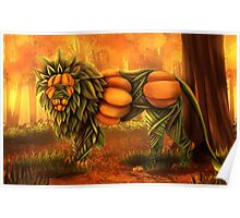 The Lion Pumpking Poster