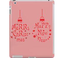 Merry Christmas Happy New Year iPad Case/Skin