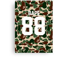 bape 88 army Canvas Print
