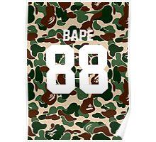 bape 88 army Poster