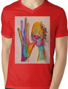 MOTHER - American Sign Language ASL Mens V-Neck T-Shirt