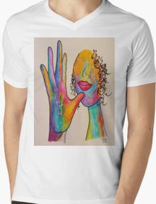 MOTHER - American Sign Language ASL Mens V-Neck T-Shirt