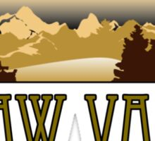 squaw valley ski resort truck stop novelty tee Sticker