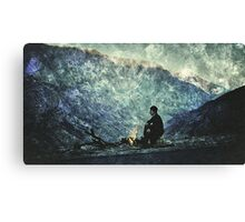 Iranian Kurdistan - camping in the mountains Canvas Print