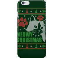 Meowy - Ugly Christmas Sweater-style ! iPhone Case/Skin