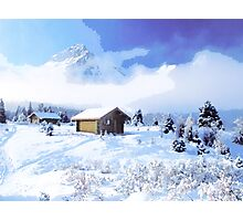 winter cottage x Photographic Print