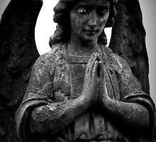Stone Angel Praying by Ed Sweetman