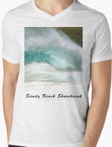 Barack Obama's Boyhood Bodysurfing Beach Mens V-Neck T-Shirt