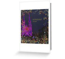 e christmas card of St Marys christmas show Greeting Card