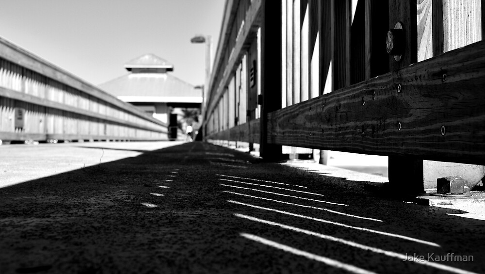 B&W Pier by Jake Kauffman