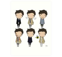 The Many Faces of Castiel Art Print
