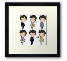 The Many Faces of Castiel Framed Print