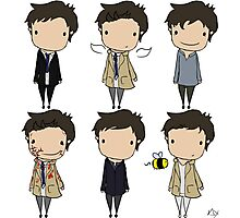 The Many Faces of Castiel Photographic Print