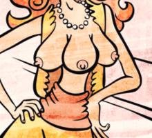 Three-breasted Hooker Sticker