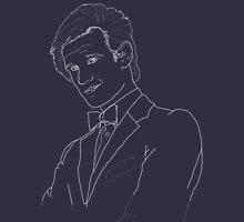 Doctor Who Matt Smith White Stencil Unisex T-Shirt