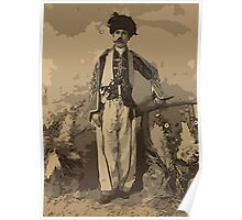 Kurdish chief, full-length portrait, standing, facing front Poster