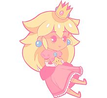 Chibi Peach Photographic Print