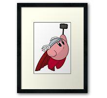 Thunder God Kirby Framed Print