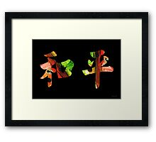 Chinese Symbol - Peace Sign 6 Framed Print