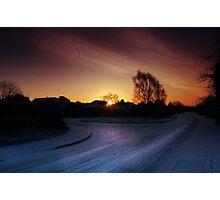 Winter Setting Photographic Print