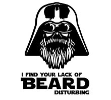 Bearded Vader Photographic Print