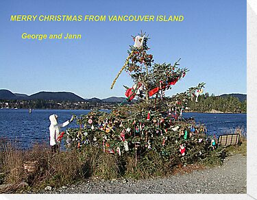 Merry Christmas From Vancouver Island by George Cousins