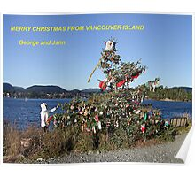 Merry Christmas From Vancouver Island Poster