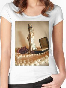 White Bridal II Women's Fitted Scoop T-Shirt