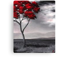Singled Out: Red Canvas Print