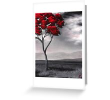Singled Out: Red Greeting Card