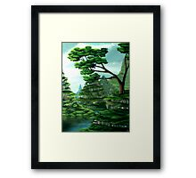 Terraced Sanctuary Framed Print