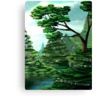 Terraced Sanctuary Canvas Print