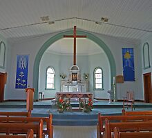 Interior, St Marys Church, Goondiwindi, Qld, Australia by Margaret  Hyde