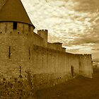 Carcassonne in Sepia by magicaltrails