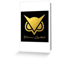 New Vanoss Limited Edition Gold Foil Logo Replica Greeting Card