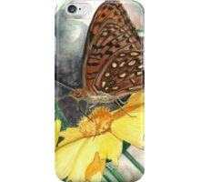 Butterfly on Yellow Flower iPhone Case/Skin